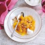 Honey and nut glazed oranges