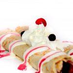 Honey and Raspberry pancakes